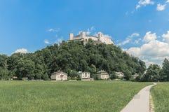 Hohensalzburg Castle (Festung Hohensalzburg) at Salzburg, Austri Royalty Free Stock Photo