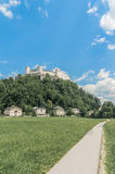 Hohensalzburg Castle (Festung Hohensalzburg) at Salzburg, Austri Stock Images