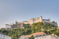 Hohensalzburg Castle (Festung Hohensalzburg) at Salzburg, Austri Royalty Free Stock Photos