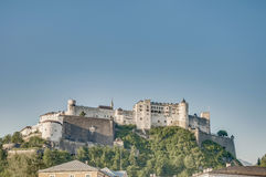 Hohensalzburg Castle (Festung Hohensalzburg) at Salzburg, Austri Stock Photo