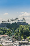 Hohensalzburg Castle (Festung Hohensalzburg) at Salzburg, Austri Stock Image