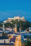 Hohensalzburg Castle (Festung Hohensalzburg) at Salzburg, Austri Royalty Free Stock Photography