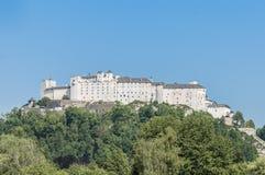 Hohensalzburg Castle (Festung Hohensalzburg) at Salzburg, Austri Stock Photos