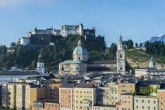 Hohensalzburg Castle (Festung Hohensalzburg) in Salzburg, Austri Royalty Free Stock Photos