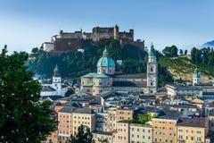 Hohensalzburg Castle (Festung Hohensalzburg) in Salzburg, Austri Stock Photos