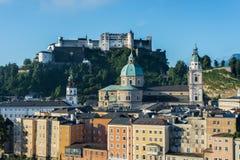 Hohensalzburg Castle (Festung Hohensalzburg) in Salzburg, Austri Stock Photography