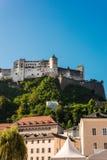 Hohensalzburg Castle (Festung Hohensalzburg) in Salzburg, Austri Royalty Free Stock Photo