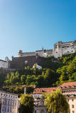 Hohensalzburg Castle (Festung Hohensalzburg) in Salzburg, Austri Stock Images