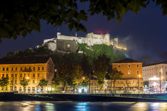 Hohensalzburg Castle Festung Hohensalzburg in Salzburg, Austri. Hohensalzburg Castle Festung Hohensalzburg literally `High Salzburg Fortress` in Salzburg Royalty Free Stock Images