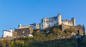 Hohensalzburg Castle on Hill, Salzburg Austria Royalty Free Stock Photo