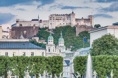Hohensalzburg Castle in Salzburg, Austria Royalty Free Stock Photo