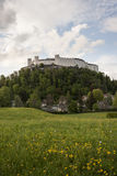 Hohensalzburg Castle. Sits atop the Festungsberg, a small mountain in the Austrian city of Salzburg. Erected at the behest of the Prince-Archbishops of Salzburg royalty free stock photos