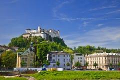 Hohensalzburg Fortress. Veiw on Hohensalzburg Fortress, Salzburg, Austria, 2009 Royalty Free Stock Image