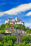Hohensalzburg Fortress. In Salzburg, Austria Stock Images