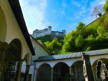 Hohensalzburg Fortress and Cemetery, Salzburg, Austria Stock Photography