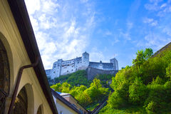 Hohensalzburg Fortress and Cemetery, Salzburg at Austria Royalty Free Stock Image