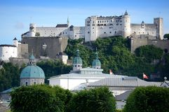 Hohensalzburg Fortress in Salzburg. Austria Royalty Free Stock Photography