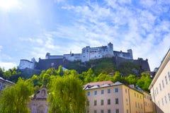 Hohensalzburg Fortress, Salzburg at Austria Stock Photo