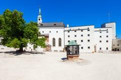 Hohensalzburg kasztel w Salzburg obraz royalty free