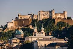 Hohensalzburg Schloss stockbild