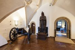 Hohensalzburg slottmuseum, Salzburg arkivfoton