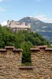 Hohensalzburg. View on Hohensalzburg, gaizbergspitze on backgroun, Salzburg royalty free stock photography