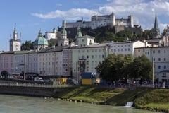 Hohensalzburgkasteel - Salzburg - Oostenrijk Stock Foto