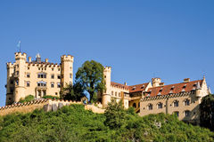 Hohenschwangau城堡在巴伐利亚 免版税图库摄影