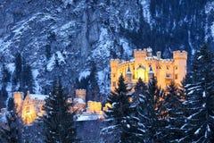 Hohenschwangau城堡在巴法力亚阿尔卑斯 免版税库存图片