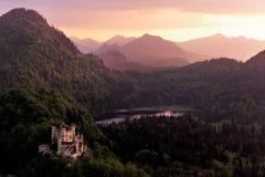 hohenschwangau Германии замока Стоковые Изображения