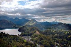 hohenschwangau замока предпосылки alps Стоковые Фото