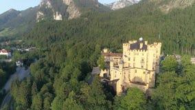 Hohenschwangau巴伐利亚日落城堡空中4k 影视素材