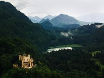 Hohenschwangau Castle στη νότια Βαυαρία στοκ εικόνα
