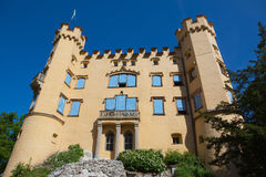 HOHENSCHWANGAU  CASTLE. Hohenschwangue is a 19th century castle in southern Germany. It was the childhood residence of King Ludwig II of Bavaria and was built by Royalty Free Stock Photography