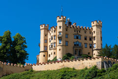 Hohenschwangau castle. In Germany Mountains Stock Photography