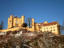 Hohenschwangau Castle. A view of a castle in Schwangau, Germany royalty free stock photo