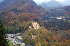 Hohenschwangau Castle. (Castle of the High Swan County) was the childhood residence of King Ludwig II of Bavaria and was built by his father, King Maximilian II Royalty Free Stock Images
