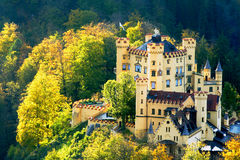 Hohenschwangau Castle in Bavaria. In sunny weather Stock Photography