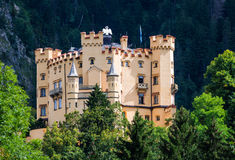Hohenschwangau Castle, Bavaria. Bavaria, Germany. Schloss Hohenschwangau Castle, 19th-century palace in southern Germany, built on the remains of the fortress Stock Photos
