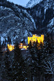Hohenschwangau castle in the Bavarian Alps Royalty Free Stock Images