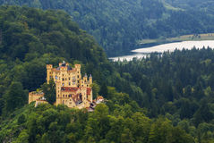 Hohenschwangau castle in the Bavarian Alps.. Royalty Free Stock Photos