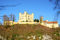 Hohenschwangau castle in early winter at Fussen. Germany stock photo