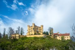 Hohenschwangau castle, the famous tourist attraction in Fussen, Royalty Free Stock Photo