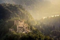 Hohenschwangau castle at Fussen Bavaria, Germany Stock Image