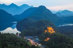 Hohenschwangau castle at Fussen Bavaria, Germany Stock Photography