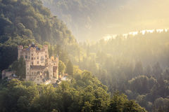 Hohenschwangau castle at Fussen Bavaria, Germany Stock Photography