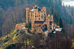 Hohenschwangau Castle Fussen Germany. The Hohenschwangau Castle on top of a hill in Schwangau, Fussen, south of Germany Royalty Free Stock Photos