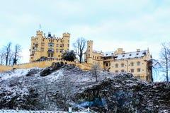 Hohenschwangau Castle Fussen. The Hohenschwangau Castle on top of a hill in Schwangau, Fussen, south of Germany Stock Photos