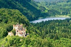Hohenschwangau Castle, Germany stock photography