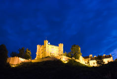 Hohenschwangau castle at night. A famous Hohenschwangau castle at night. Bavaria, Germany Stock Photos